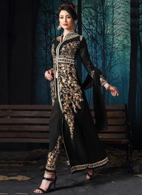 Senhora New Designer Party Wear Stone Work Georgette Salwar Suits Collection