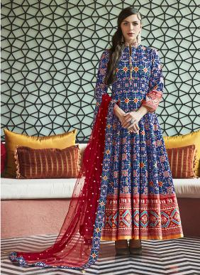 Pure Silk New Designer Party Wear Readymade Anarkali Suits Collection