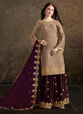 New Designer Festival Wear Embroidery Work Palazzo Suits Collection