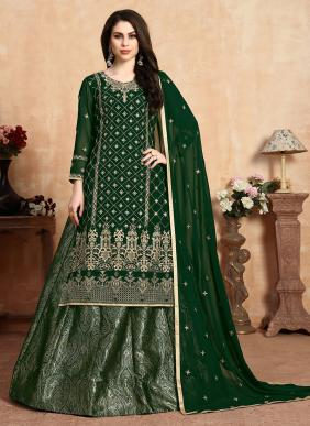 New Designer Eid Special Faux Georgette Lehenga Suits Collection