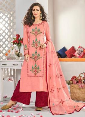 Muslin Silk New Designer Ramzan Eid Special Readymade Palazzo Suits Collection