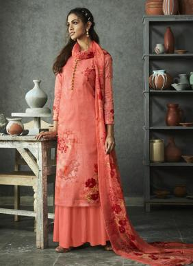 Linen Digital Printed Pure Cotton New Palazzo Suits Collection