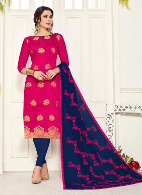 Banarasi Silk New Fancy Casual Wear Churidar Suits Collection