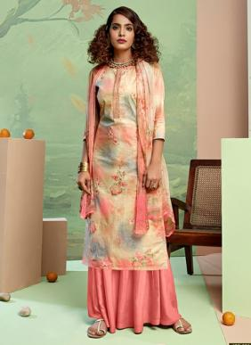New Fancy Digital Printed Pure Cotton Palazzo Suits Collection
