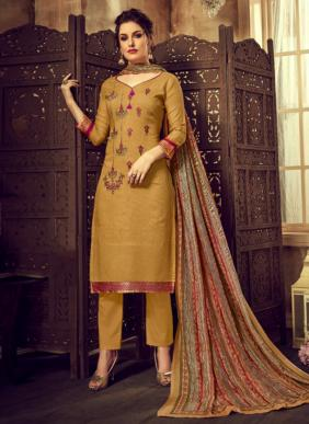 Daily Wear New Fancy Embroidery Work Viscose Rayon Salwar Suits Collection