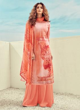 Regular Wear New Fancy Digital Printed Lawn Cotton Palazzo Suits Collection