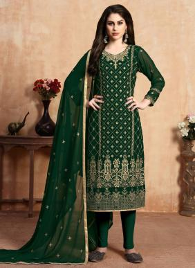 Beautiful Designer Faux Georgette Churidar Suits Collection