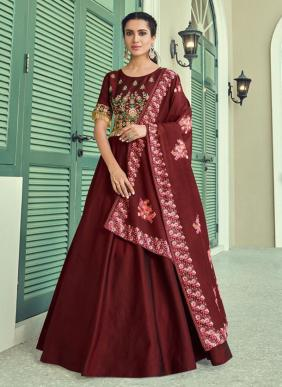 Ramzan Eid Special Faux Georgette Readymade Anarkali Suits Collection (Only Top Stitched)