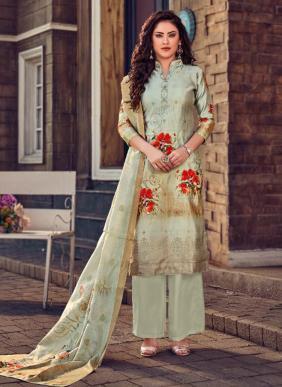 Digital Printed Banarasi Silk Palazzo Suits Collection