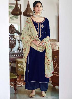 Maisha Swaragini Vol 2 Velvet Embroidery Work Party Wear Palazzo Suits Collection
