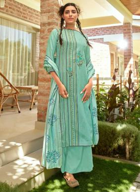 Kaara Patola New Fancy Wooven Pashmina Embroidery Work Daily Wear Palazzo Suits Collection