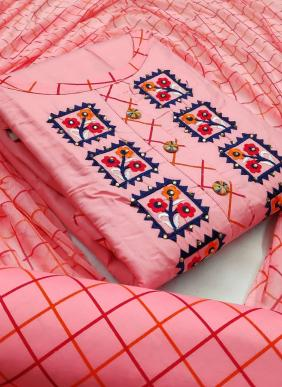 Buy New Designer Fancy Embroidery Work PC Cotton Salwar Suits Collection