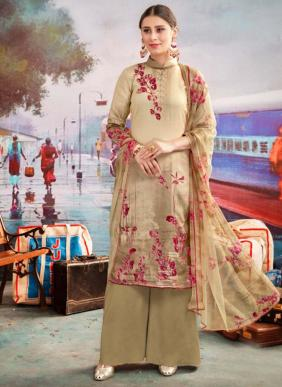 Sweety Fashion Rock Vol 6 Aari Work New Fancy Casual Wear Cotton Satin Palazzo Suits Collection