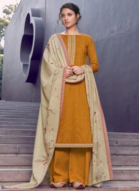 Kaara Makhmali Winter Special Embroidery Work Pashmina Casual Wear Palazzo Suits Collection
