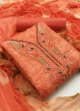 New Fancy Casual Wear Printed Cotton Salwar Suits Non Catalog Collection
