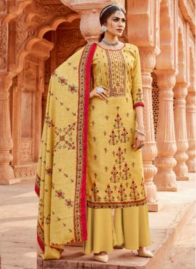 Alok Varunikaa Winter Special Pure Wool Pashmina Digital Printed Palazzo Suits Collection