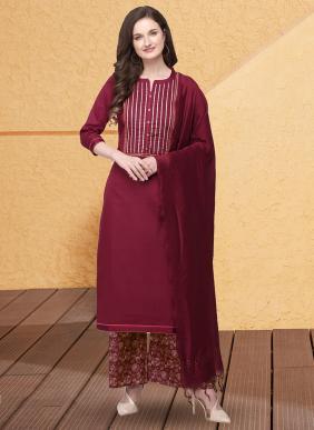 KVS Printest Jam Cotton Silk Latest Designer Gota Patti Work Palazzo Suits Collection