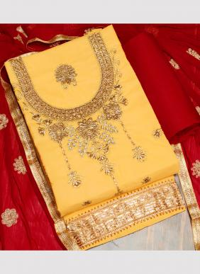 Ruhi Fashion Indo Cotton New Designer Diamond And Embroidery Work Salwar Suits Collection