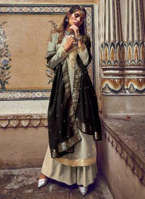 Ibiza Saba New Fancy Weaving Jacquard Silk Party Wear Palazzo Suits Collection