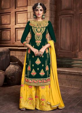 Amyra Designer Kajra Vol 9 Latest Designer Heavy Embroidery Work Blooming Georgette Sharara Suits Collection