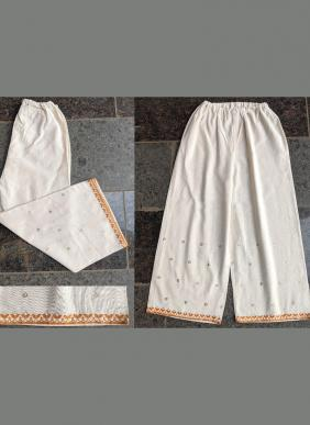 Mesmora Festive Bottoms Aari Work Latest Designer Khadi Palazzo Collection