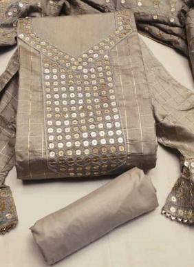 Checks Muslin Cotton New Designer Fancy Salwar Suits Non Catalog Collection