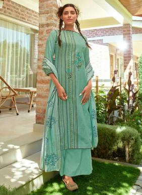 Kaara Saffron Embroidery Work Wooven Pashmina Winter Special Palazzo Suits Collection