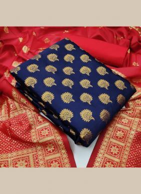New Fancy Banarasi Silk Festival Wear Salwar Suits Non Catalog Collection