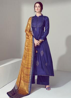 Volono Trendz Elan Vol 2 Self Embroidery Work Winter Special Pashmina Palazzo Suits Collection
