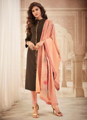 Pure Muslin New Fancy Embroidery Work Readymade Dresses Collection (Only Top Stitched)