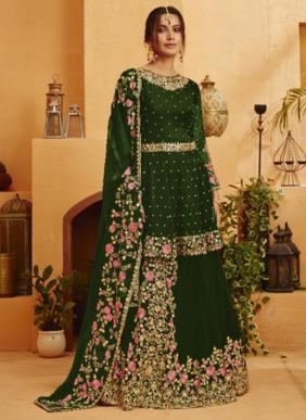 Your Choice Kohinoor Blooming Georgette Latest Designer Heavy Embroidery Work Lehenga Suits Collection