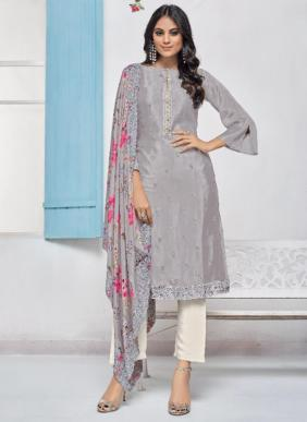 Vipul Breeze Chinnon Embroidery Work Latest Designer Salwar Suits Collection