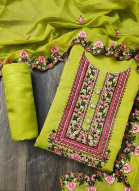 Semi Modal New Fancy Daily Wear Embroidery Work Salwar Suits Collection