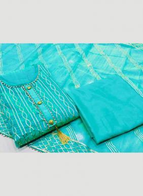 Modal Chanderi Casual Wear Rebin Work New Designer Salwar Suits Collection