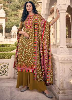 Belliza Aisha Vol 2 Winter Special New Fancy Pashmina Digital Printed Palazzo Suits Collection