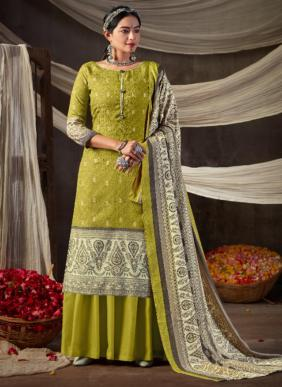 Alok Mughal Queen Woolen Pashmina Winter Special Daily Wear Palazzo Suits Collection