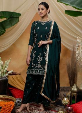 Khushbu Fashion Flory Vol 8 Chinnon Thread Sequins Work Wedding Wear Designer Salwar Suits Collection