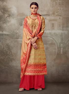 Belliza Cosmic New Fancy Swarovski Work Pure Silk Palazzo Suits Collection