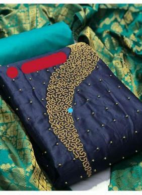Shree Bherav New Fancy Hand Work Semi Modal Salwar Suits Non Catalog Collection