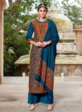 Kalki Fashion Gulmohar Vol 2 Pure Handloom Weaving Pashmina Winter Special Palazzo Suits Collection