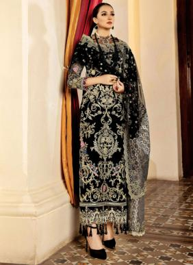 Serene Lamore Faux Georgette Heavy Work Eid Special Pakistani Suits Collection