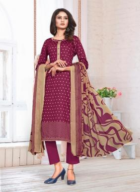 Bipson Preeto 1334 Glace Cotton Printed Straight Suits Collection