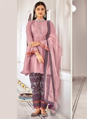Eba Lifestyle Classic Vol 2 Chinnon Embroidery Work Eid Special Salwar Suits Collection