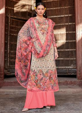 Alok Baano Digital Printed Pure Jam Cotton Palazzo Suits Collection