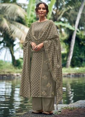 Deepsy Mist Block Print Mini Silk New Designer Palazzo Suits Eid Collection
