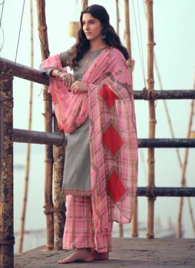 Zulfat Designer Husn E Patiyala Kashmiri Style Heavy Jam Cotton Palazzo Suits Collection