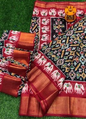 Manokamna Trendz Hati New Designer Elephant Printed Soft Cotton Sarees Wholesale Collection
