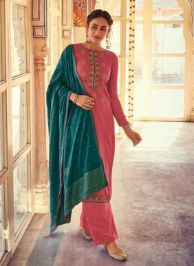 Deepsy Monalisa Vol 4 Nahya Silk Self Butti Work Casual Wear Palazzo Suits Collection