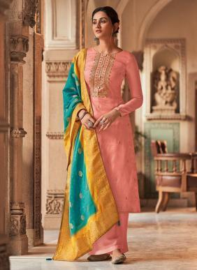 Shree Fab Diyah Vol 2 Tussar Silk Butti Work New Designer Palazzo Suits Collection