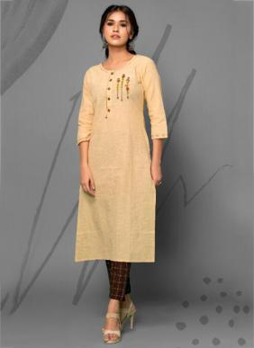 Psyna Poetry Hand Work Cotton Long Kurtis With Pants Collection